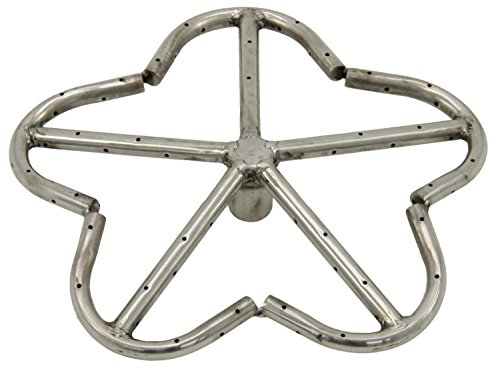 Hearth Products Controls HPC Penta Fire Pit Burner (PENTA12-NG), 12-Inch, Stainless Steel, Natural Gas