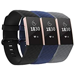 adepoy Compatible with Fitbit Charge 3 B...