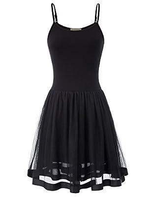 Kate Kasin Womens Underskirts Adjustable Strap Full Slip Petticoat Cami Dress K1099
