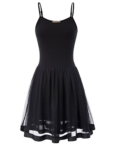 (Juniors A-line Pinup Dress Skirts with Top(XL, Black 1099))