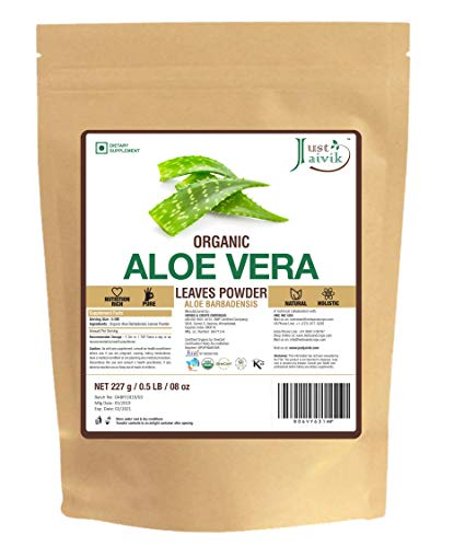 100% Organic Aloe Vera Powder - 227g /0.5 LB USDA Organic Certified (Aloe Barbadensis) for (Homemade Hair Remedies For Dry Damaged Hair)