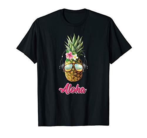 Aloha Hawaiian Pineapple Lei Luau Tiki Party T-Shirt