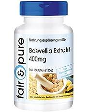Boswellia extrakt 400 mg – standardiserad till 65 % boswelliasyror – vegan – 150 röktabletter
