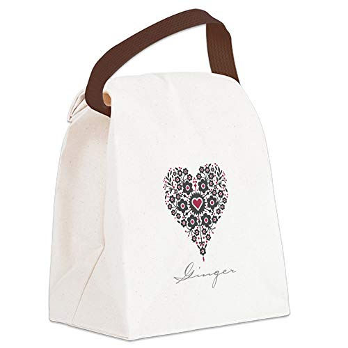 CafePress Love Ginger Canvas Lunch Bag with Strap Handle