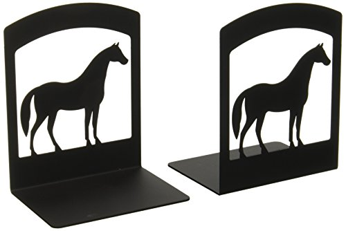 6.25 Inch Horse Book Ends Iron Horse Bookends