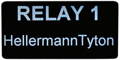Hellermann Tyton 596-00507 Foam Nameplate 2.0 X 1.0 Rectangular Nameplate Pack of 500 2.0 X 1.0 Rectangular Nameplate PET Black