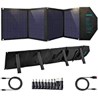 CHOETECH Cargador Solar, Kit Panel Solar Portátil 80W, Plegable Impermeable, PD 30W + QC 18W + USB 12W, Salida de DC 18V…