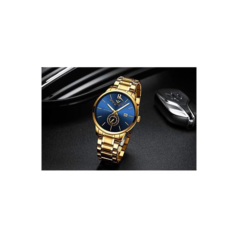 41yA0xkrStL. SS768  - NIBOSI Analogue Black Dial Men's Watch