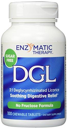 DGL-FF (sans sucre ou le Fructose) thérapie enzymatique Inc. 100 à croquer