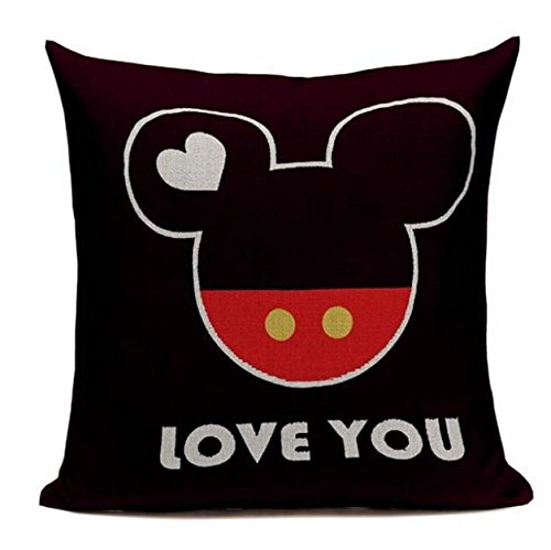 Lil Pepper Love You Disney D3 Mr Mister Mickey Mouse Style Decorative Throw Pillow Cover