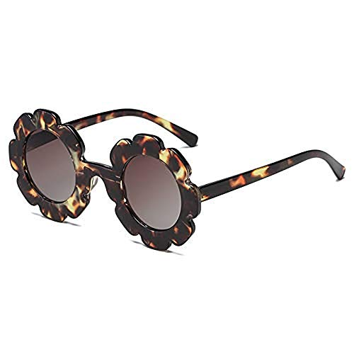 Toddler Kids Girl Boy Vintage Flower Round Anti-UV Sunglasses, Colorful Cute Eyewear Suit for Party Photography Outdoor Beach ()