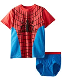 Indepence Life Little&Toddler Boys' 2-Piece Spiderman Superheros T-Shirt and Brief