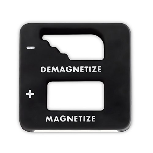 Black Precision Demagnetizer/Magnetizer - For Screwdrivers, Small Tools, Small and Big Screws, Drills, Drill Bits, Sockets, Nuts, Bolts, Nails And Construction Tools - By Katzco ()
