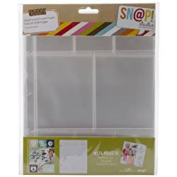 Simple Stories Snatp! Insta Pocket Pages for 6 by 8-Inch Binders with 2 by 2-Inch and 3 by 4-Inch Pockets, 10-Pack