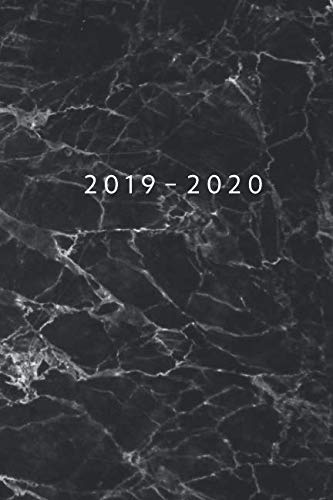 Planner Starting May 2019 - Dec 2020 | 6 x 9 Dated Agenda | Appointment Calendar | Organizer Book | Soft-Cover Marble Black ()