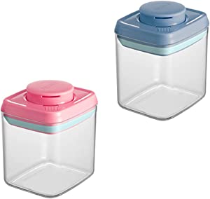 DERGH Airtight Food Storage Containers 2Pcs,10oz Baby Food Jars with Lids,Reusable Small Freezer Storage Containers, LeakProof Food Containers for kids and snacks