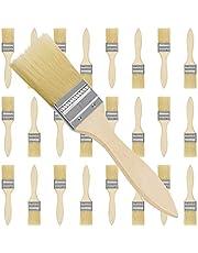Kurtzy 3,81cm Verf Kwasten (25 pak) - Professionele Houten Handvatten Verfkwasten set Voor Verf, Stainen, Vernissen, Lijmen en Huis DIY