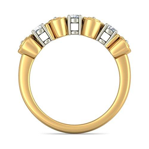 Or jaune 18K, 0,2CT TW Diamant Blanc (IJ   SI) en diamant