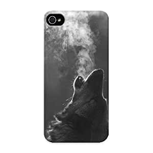 3b3c0e9957 Awesome Wolf Howling Flip Case With Fashion Design For Iphone 5/5s As New Year's Day's Gift