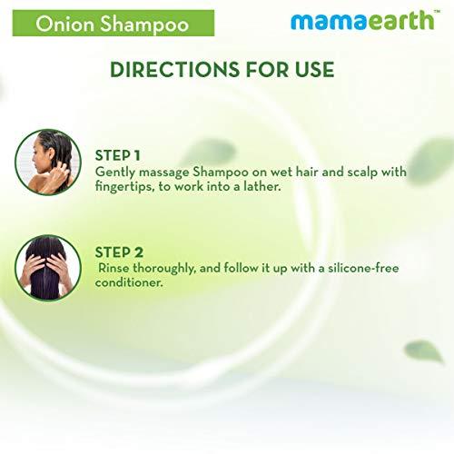 Mamaearth Onion Hair Fall Shampoo for Hair Growth & Hair Fall Control, with Onion Oil & Plant Keratin 250ml