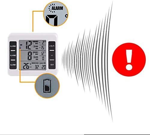 Termómetro inalámbrico para nevera con 2 sensores inalámbricos con ...