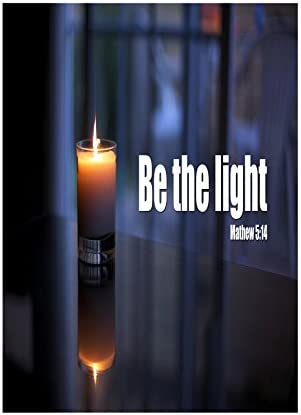 4 Pack Aluminum Metal Be The Light Matthew 5:14 Print Candle Picture Large Inspiration Motivational Quote Sign 12x18