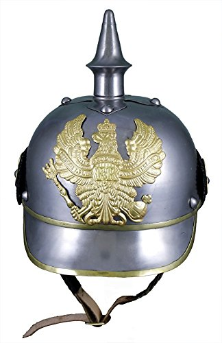 World War I German Helmet (German 19Th Cent. Helmet - Pickelhaube - In Steel W/ Brass)