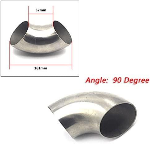 Car 3 inch//76mm 90 Degree Stainless Steel Bend Elbow Pipe Piping Tubing Newest