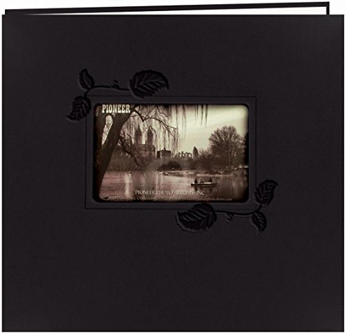 pioneer-mb10e-ibk-embossed-leatherette-postbound-album-with-window-12-x-12-inch