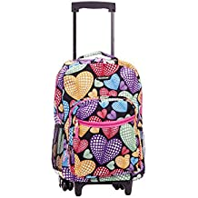 """Rockland 17"""" Rolling Backpack, Newheart"""