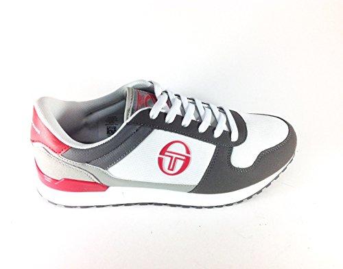 SERGIO TACCHINI Metric, Zapatillas de Deporte Para Hombre, Sneakers, Men Trainers White/Grey/Red 45