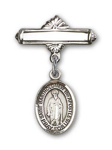 Icecarats Créatrice De Bijoux En Argent Sterling St. Bartholomew Broche Le Badge De Charme Apôtre 1 X 5/8