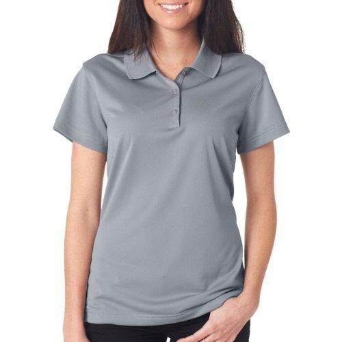 adidas Women's Rib Knit Collar Performance Pique Polo Shirt, Medium, Zone/Black