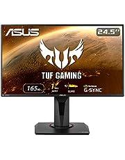 "ASUS TUF Gaming 24.5"" 1080P Monitor (VG259QR) - Full HD, 165Hz, 1ms, Extreme Low Motion Blur, Speaker, G-SYNC Compatible, Shadow Boost, VESA Mountable, DisplayPort, HDMI, Height Tilt Swivel Adjustable"