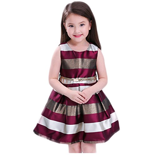 Girls Dresses 7-16 for Wedding Party SIze 8 Age of 10 Lace Block Color Christmas Knee Length Ball Gown First East Special Occasion Elegant A-Line Outfits Princess Holiday Gowns ( 2 Burgundy 140 ) Christmas Ball Gowns