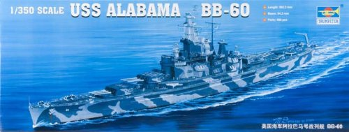 (Trumpeter 1/350 USS Alabama BB60 Battleship)