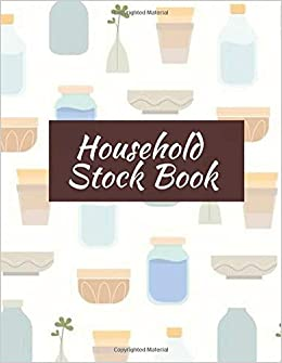 Amazon com: Household Stock Book: Record Stock inventory movement