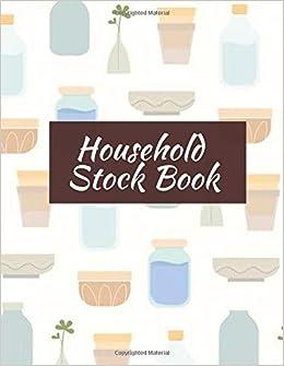 Amazon com: Household Stock Book: Record Stock inventory