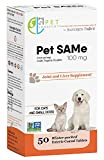 Pet Longevity Same 100 mg Pet Supplements - Liver and Joint Support for Cats, Small Dogs with Elevated Enzymes - S Adenosyl Methionine - 50 Gluten Free Enteric Coated Tablets - Non GMO Certified