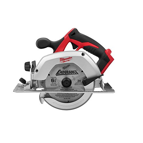 Milwaukee M18 2630-20 18 Volt Lithium Ion 6-1/2' 3,500 RPM Cordless Circular Saw w/Magnesium Guards and Included 24-Tooth Carbide Wood Cutting Blade