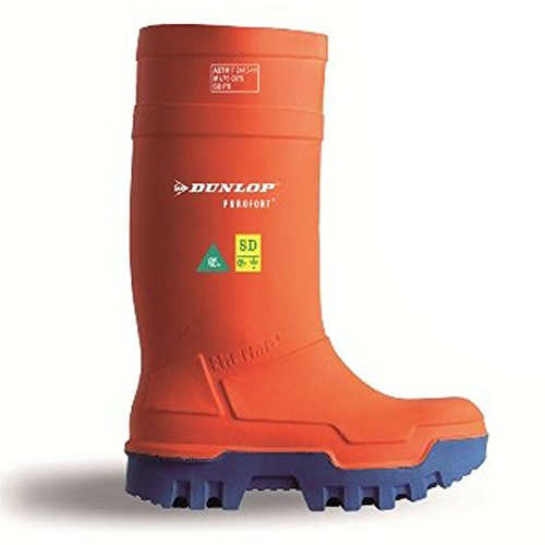 Purofort Thermo+ Full Safety Orange Shoes E662343 Size - 9 by Dunlop (Image #3)
