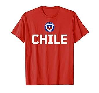 Amazon.com: Camiseta de la bandera de Chile con diseño de ...