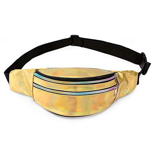 Dainzuy Waist Bags for Women, Students Outdoor Sports Fashion Zipper Messenger Bag Chest Bag Crossbody Wallet Purse -