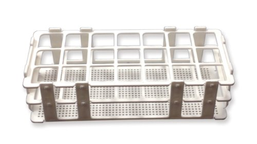 [Frey Scientific No-Wire Autoclavable Polypropylene Test Tube Rack for 30mm Tube,  21 Well] (Uses Test Tube Rack)
