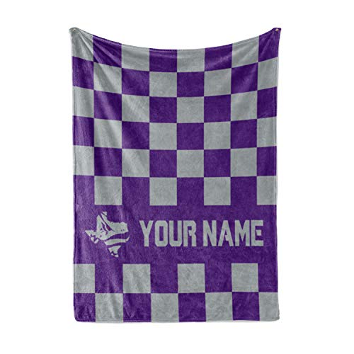 "Personalized Corner Custom TCU Horned Frogs Themed Fleece Throw Blanket - College Football Apparel for Men Women Kids Texas Christian University (Adult 60""x80"")"