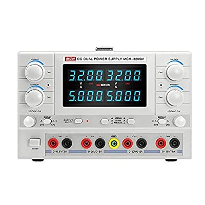 XIAOF-FEN High Precision MCH-3205IV Four-Channel DC Regulated Power Supply High Precision Dual Adjustable Power Supply Home Improvement Electrical