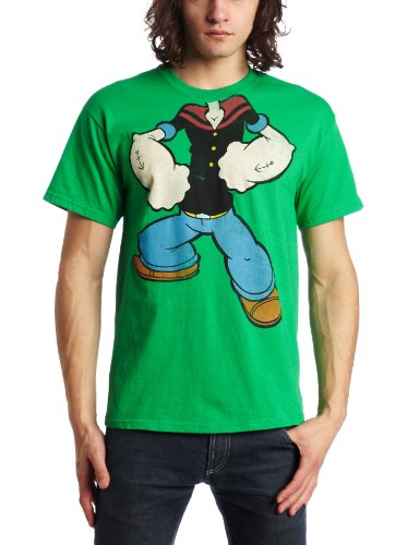 Mad Engine Men's Popeye Bring It T-Shirt, Kelly Green, Large ()