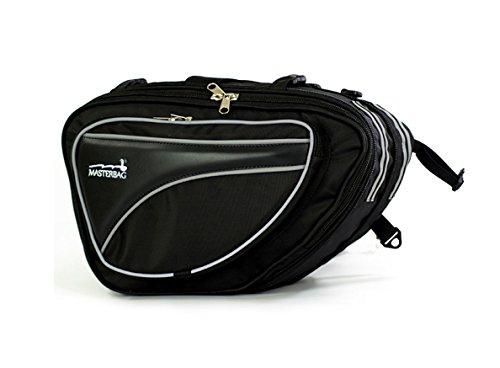 Maletas Alforjas Textiles Motocicleta Accesorio Masterbag (Negro)