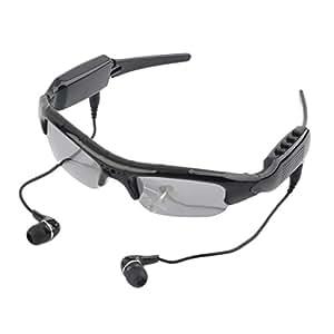 Mengshen® al aire libre gafas de sol negras! 4 en 1 jugador de MP3 Mini DVR cámara oculta ayuda del video de la tarjeta Micro SD MS-HC36