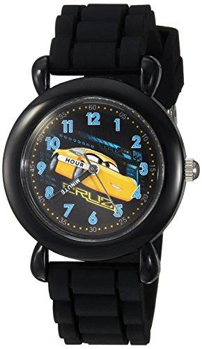 Disney Boy's 'Cars 3' Quartz Plastic and Silicone Casual Watch, Color:Black (Model: WDS000303)